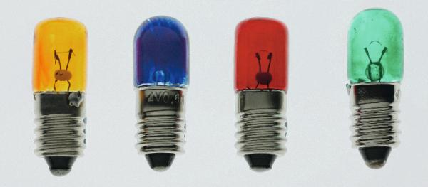 Packung Glühlampen, E10/4 V/0,04 A, rot