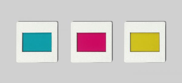 Satz Farbfilter (gelb, cyan, magenta)