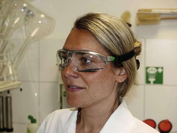 Schutzbrille mit Gummischutz nach DIN EN 166