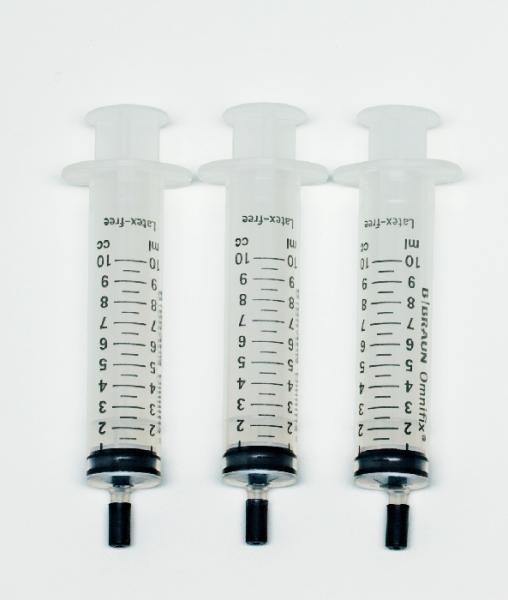 Kunststoffspritzen mit Schlauchansatz, 10 ml