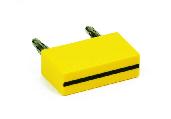 Brückenstecker MBC, gelb/grün
