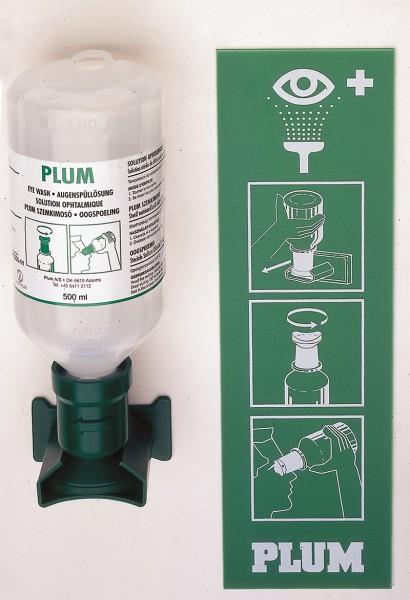 Ersatz-Nachfüllflasche mit Augenspüllösung mit 0,9% Natriumchloridlösung, 500ml