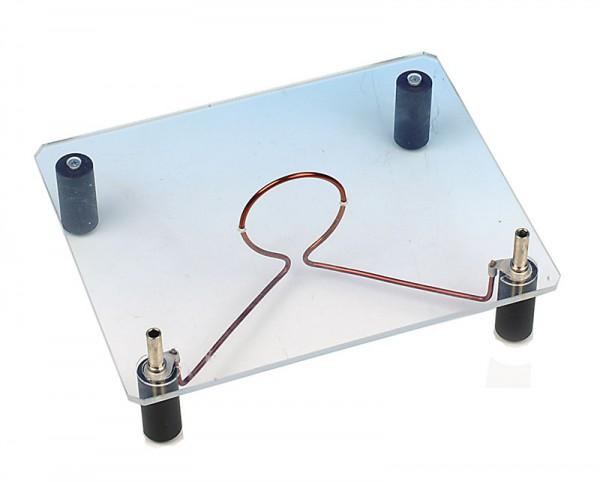 Leiterschleife auf Acrylglassockel