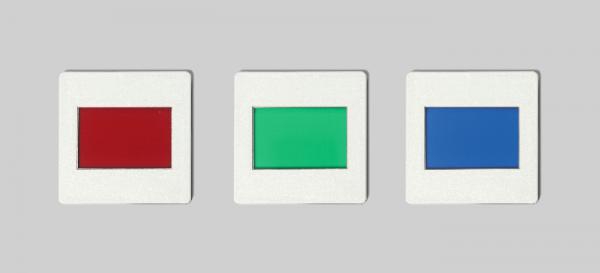 Satz Farbfilter (rot, grün, blau)