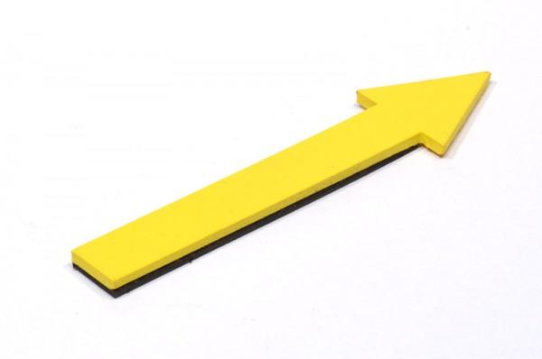 Pfeil gelb, magnethaftend