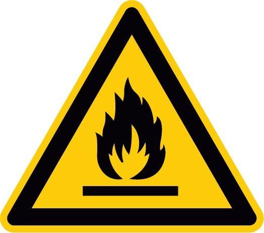 Warnzeichen brandfördernd