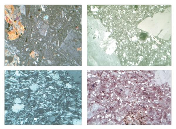 Gesteinsdünnschliffe Serie II. Kleine Serie Teil 2. 10 Präparate Format 30x45 cm, ohne Verpackung
