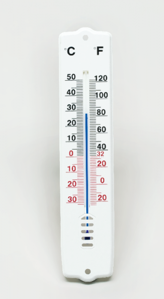 Celsius-Fahrenheit-Thermometer, –10/+50 °C