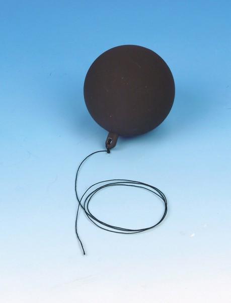 Kugel mit metallischer Oberfläche und Faden